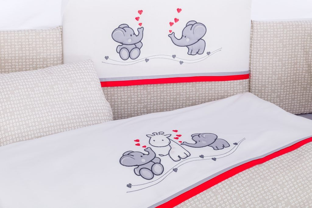 Lucky Elephants Red